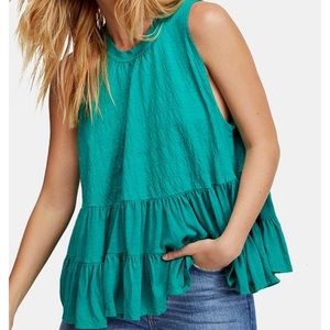 Free People Right On Time Tiered Tie-Back Tunic
